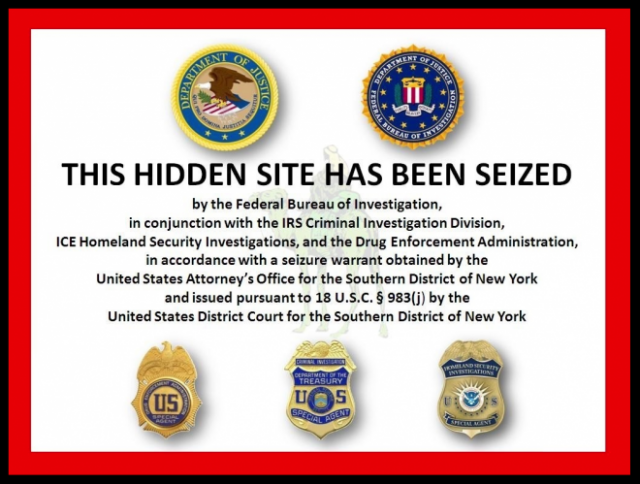 Law enforcement advisory that Silk Road marketplace has been shut down.