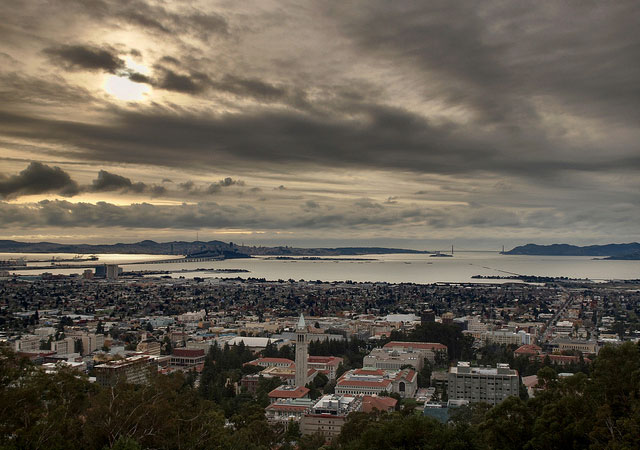 The view from the Berkeley Hills. Several Berkeley ZIP codes were included in the East Bay 'Super Zip,' a collection of ZIP Codes whose residents rank near the top nationwide in both education and income. Daniel Parks/Berkeleyside