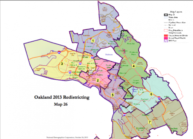 Oaklanders Heres the Voting District You May Be in Next Year