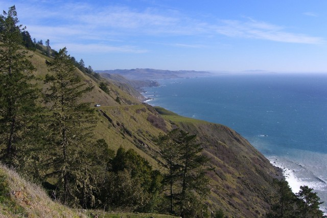 Sonoma County coastline, as seen from Highway 1 north of Jenner. (Dan Brekke/KQED)