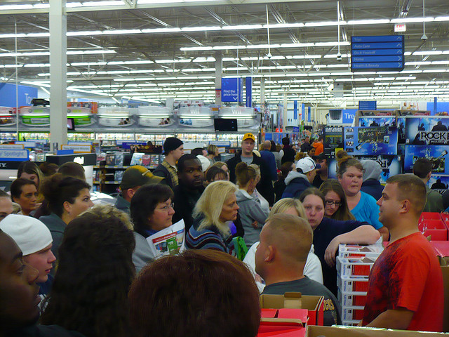 Black Friday at Walmart. (laurieofindy / Flickr)