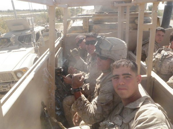 Edwin Del Rio (front) is shown during his service in Afghanistan. After he came home, he filed a claim for post-traumatic stress disorder, knee pain and a foot injury. (Courtesy of Edwin Del RioEdwin)