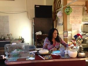 Marta Sanchez at Casa Sanchez. (Sam Harnett / KQED)