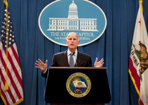 Gov. Jerry Brown announced the passing of Prop. 30 in November of 2012. (Randy Pench/Sacramento Bee/MCT via Getty Images)