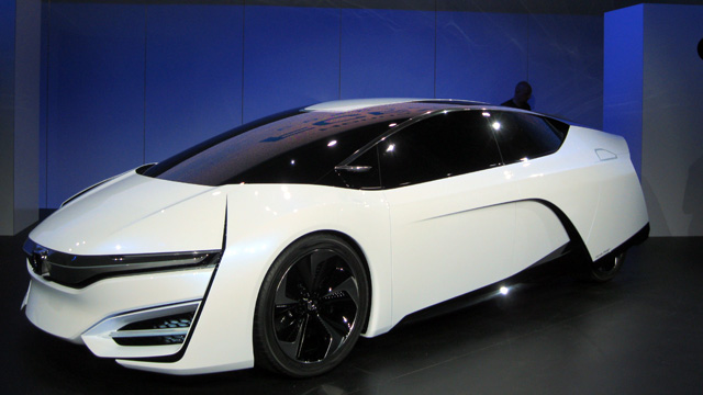 Honda unveiled its new FCEV hydrogen fuel-cell concept car at the 2013 L.A. Auto Show. (Susan Valot/KQED)