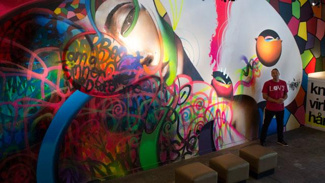 Artist Cho Boogie. (Sara Bloomberg/KQED)