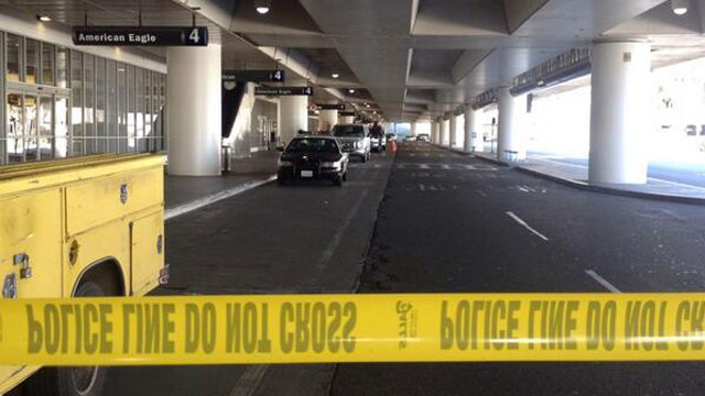 Terminal 3 has been evacuated and cordoned off. (Courtesy of J. McMerty)