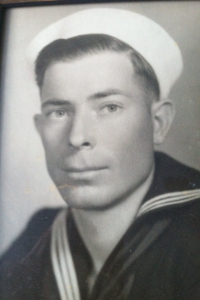 Frank Hanley early in his U.S. Navy service.