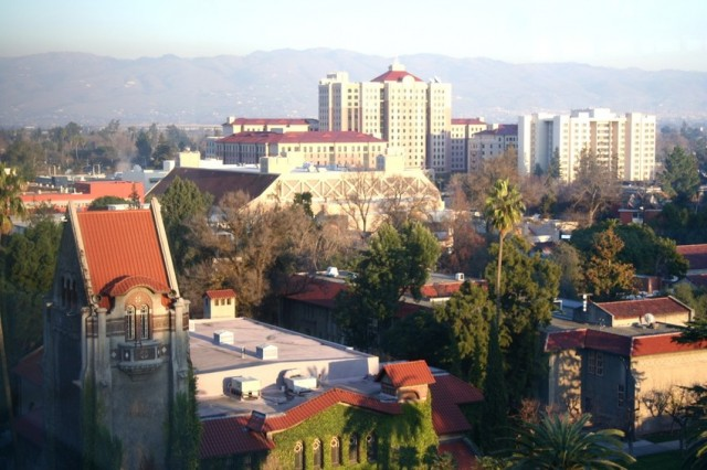 Aerial view of San Jose State University. (Steve McFarland/Flickr)