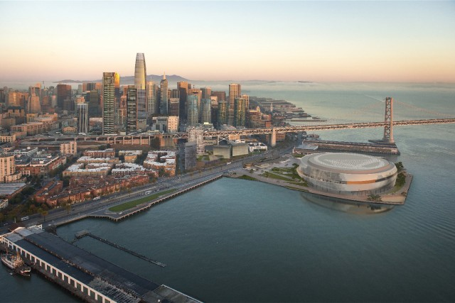 Golden State Warriors Unveil Downsized Arena Design for S.F. Waterfront