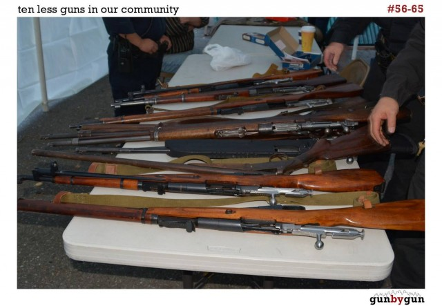 A gun buyback by GunByGun.com held in San Francisco's Mission district in August. (Courtesy GunByGun)
