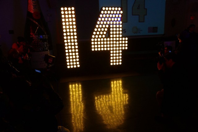 "Numeral that was part of Times Square New Year's Eve ""ball drop"" display. (Emmanuel Dunand/AFP-Getty Images)"