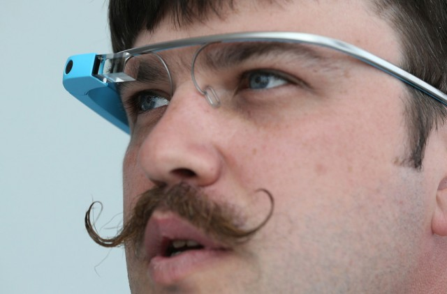 Google engineer Ian McKellar wears Google Glass. (Justin Sullivan/Getty Images)