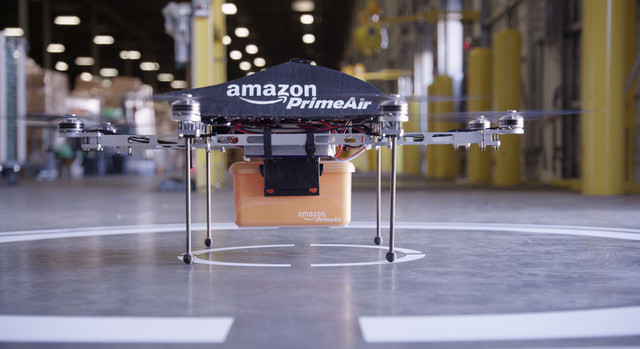 Amazon image of its experimental parcel-delivery drone.