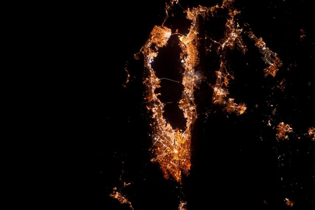 Regional Beauty Shot: The Bay Area, at Night, From Space