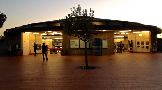 North Berkeley BART station on the eve of October strike (Dan Brekke/KQED).