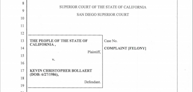 Title page from state's criminal complaint against alleged operator of revenge porn website.