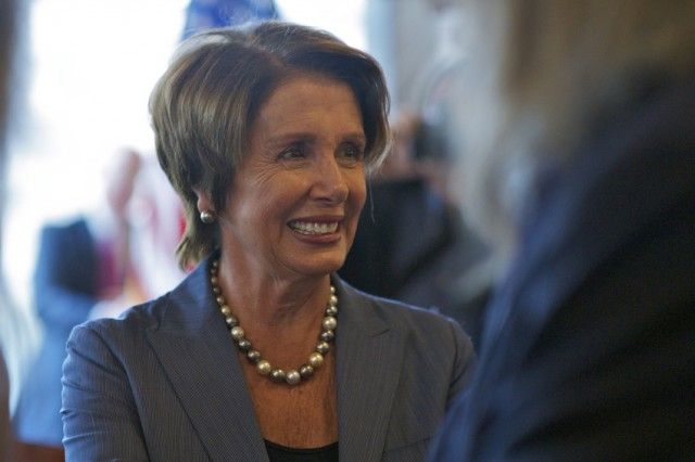 Nancy Pelosi in San Francisco Monday. (Monica Lam/KQED)