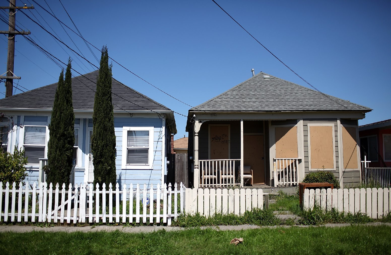 Homes in Richmond, California. (Justin Sullivan/Getty Images)