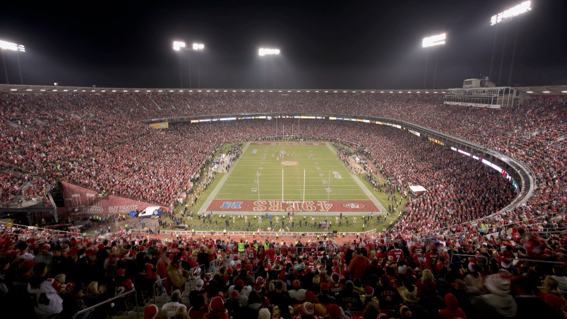 Last night at Candlestick Park.