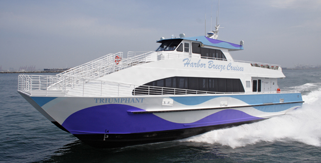 The Triumphant, a catamaran that's being used as part of a monthlong Google ferry experiment. (Photo: All-American Marine)