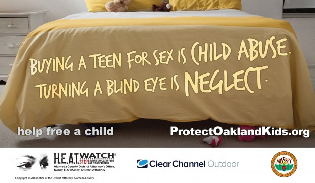 A new billboard campaign is aimed at combating youth sex trafficking. (Photo courtesy of the Alameda County District Attorney's Office)