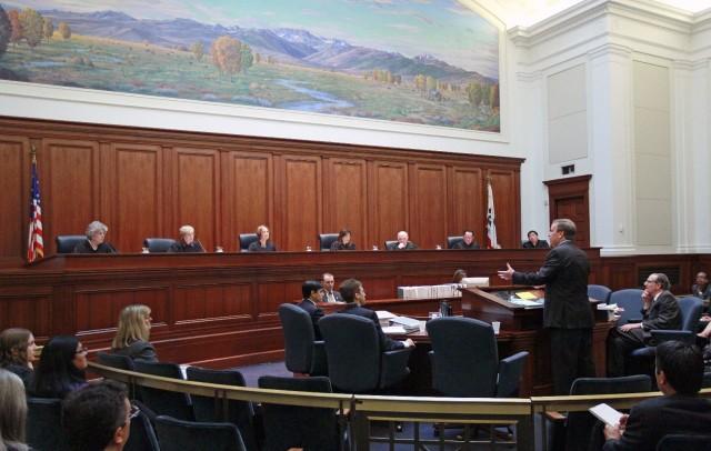 File photo, California Supreme Court. (AP Photo/Jeff Chiu/Pool)