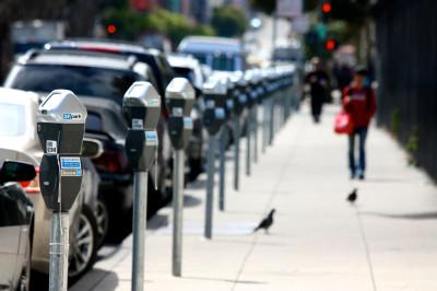 : Parking meters in San Francisco.