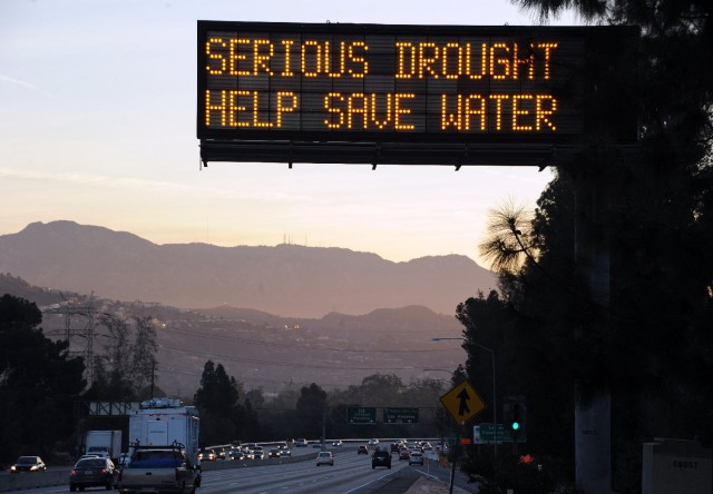 A highway sign in the Los Angeles suburb of Glendale. (Robyn Beck/AFP-Getty Images)
