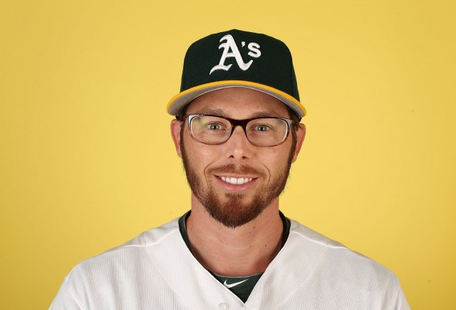 Oakland A's infielder Eric Sogard, the face that sunk Buster Posey. (Christian Petersen/Getty Images)