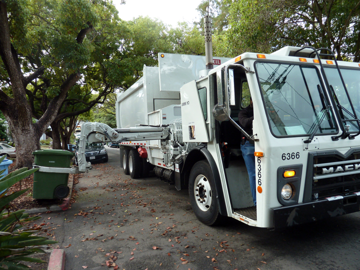 Berkeley began using automated single-operator garbage trucks as a cost-saving measure in late 2012. (City of Berkeley)