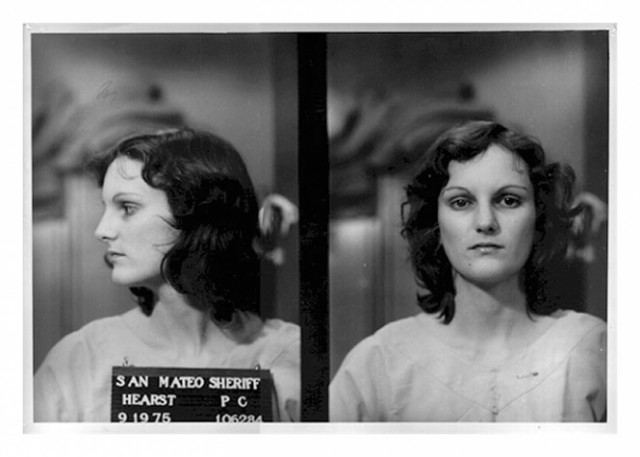 Urban guerrilla Patty Hearst in 1975 booking photo.