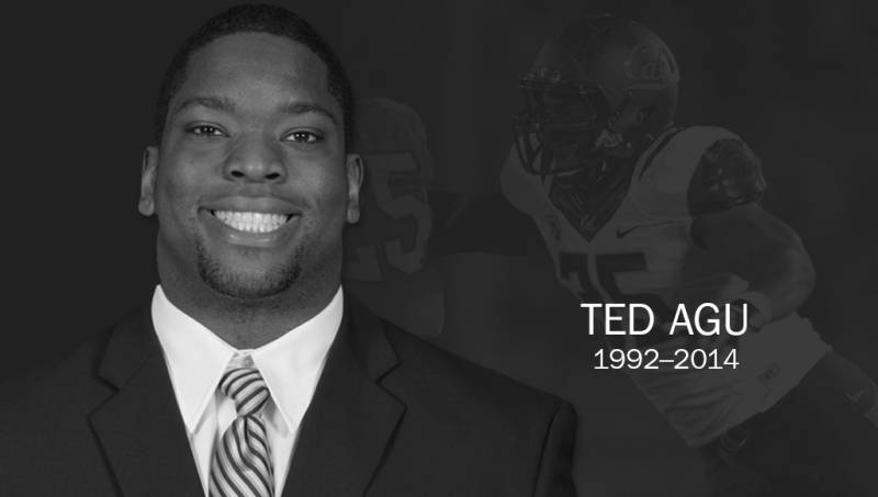 UC Berkeley football player Ted Agu, in image released today by Cal.