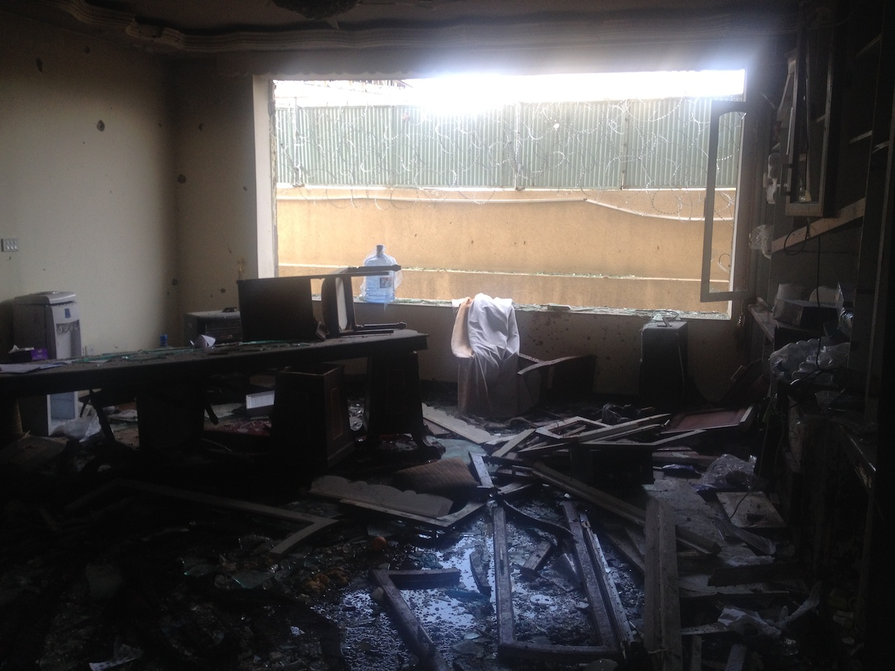 The Kabul office of Roots for Peace was devastated by an early-morning attack on March 28. (Photo courtesy of Heidi Kuhn)
