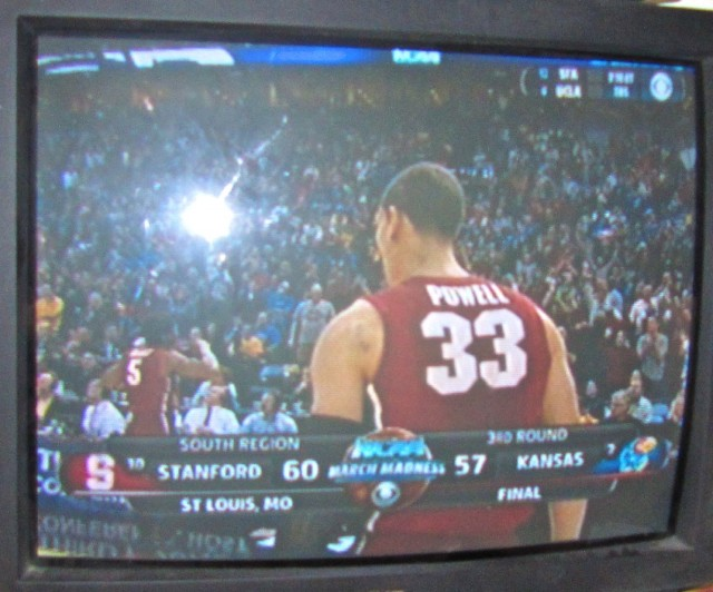 Stanford prevailed over Kansas, 60-57. (David Weir/KQED)