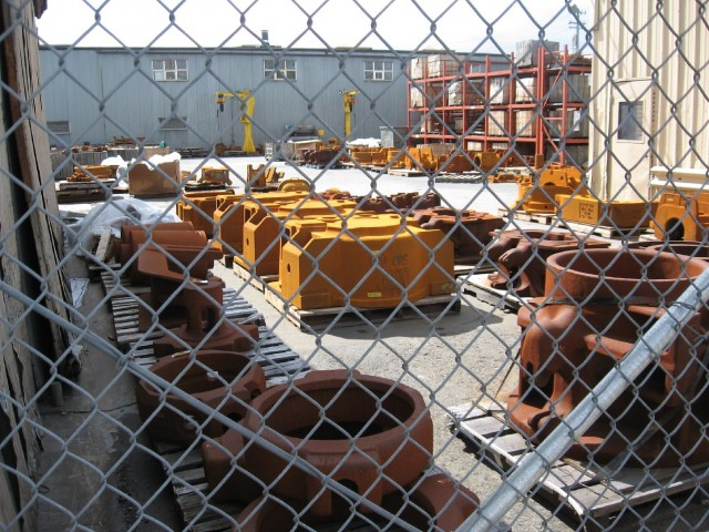 Pacific Steel has made castings like these in Berkeley since 1934. (Peter Jon Shuler/KQED)