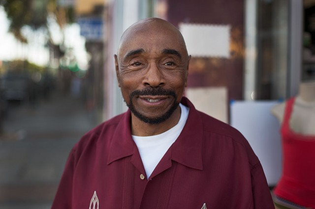 Marvin Robinson, owner of Dollar Store and More on 3rd Street, sees both sides of the issue (Mark Andrew Boyer/KQED)