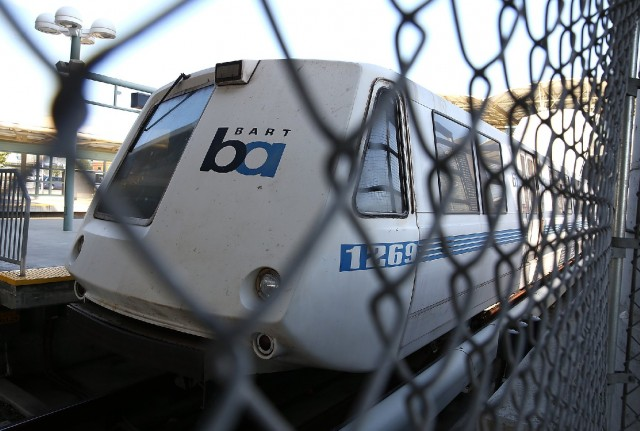 BART is aiming to open its airport connector to Oakland International Airport on Thanksgiving weekend. (Justin Sullivan/Getty Images)