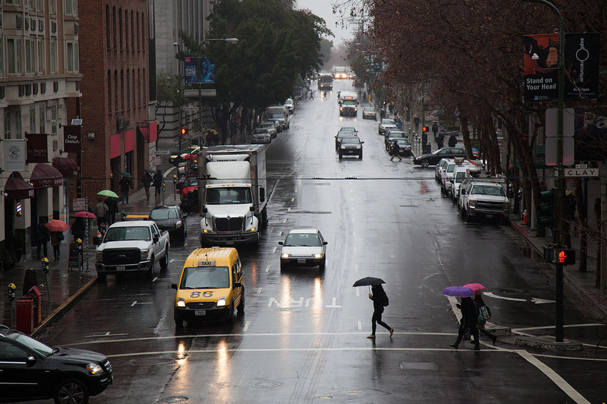 San Francisco has become a dangerous city for pedestrians to navigate. (Mark Andrew Boyer/KQED)