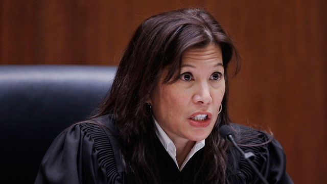 California Supreme Court Chief Justice Tani Cantil-Sakauye addresses a hearing in San Francisco, Tuesday, Jan. 10, 2012. (AP Photo (pool)/Paul Sakuma)