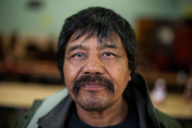 Evaristo Morales Crúz regularly eats at Mother Brown's (Mark Andrew Boyer/KQED)