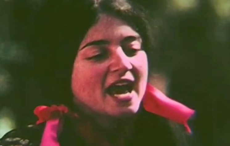 "Rita Abrams as she appeared in the 1970 video of her hit song ""Mill Valley."""