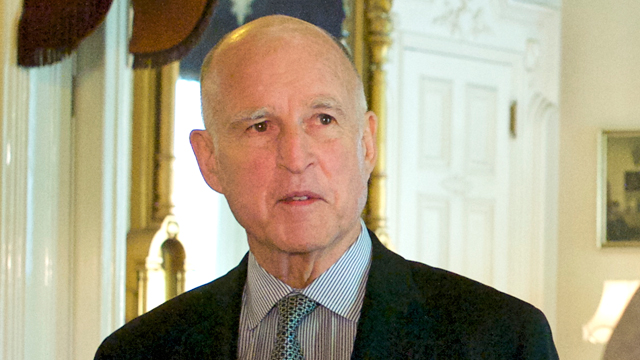 Gov. Jerry Brown at the Governor's Mansion. (Monica Lam/KQED)