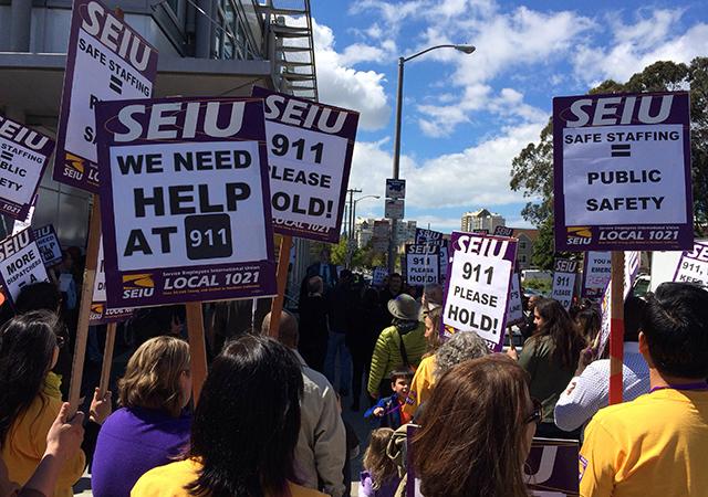 San Francisco 911 Dispatchers Protest Low Staffing Levels