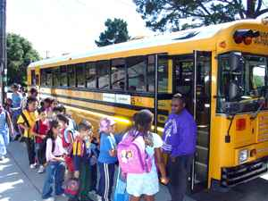 The number of grade-schoolers who don't use the school bus service is cited as evidence of fraudulent enrollment. (Photo: BUSD)
