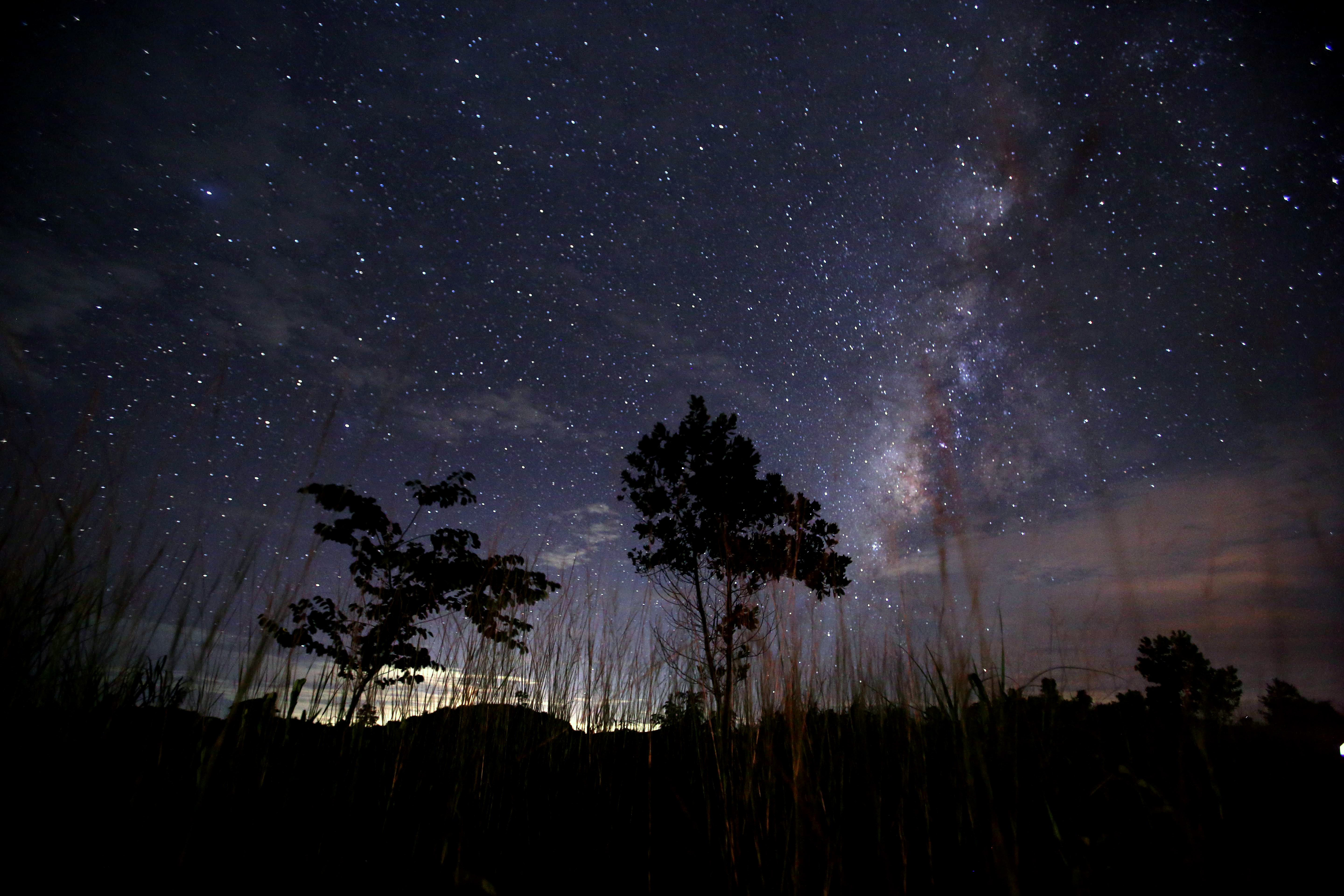 This long-exposure photograph of the Perseid meteor shower, taken on Aug. 12, 2013, shows the Milky Way in the clear night sky near Yangon, Burma. (Ye Aung Thu/AFP/Getty Images)