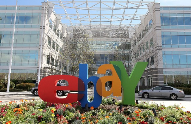 eBay headquarters in San Jose. (Justin Sullivan/Getty Images)