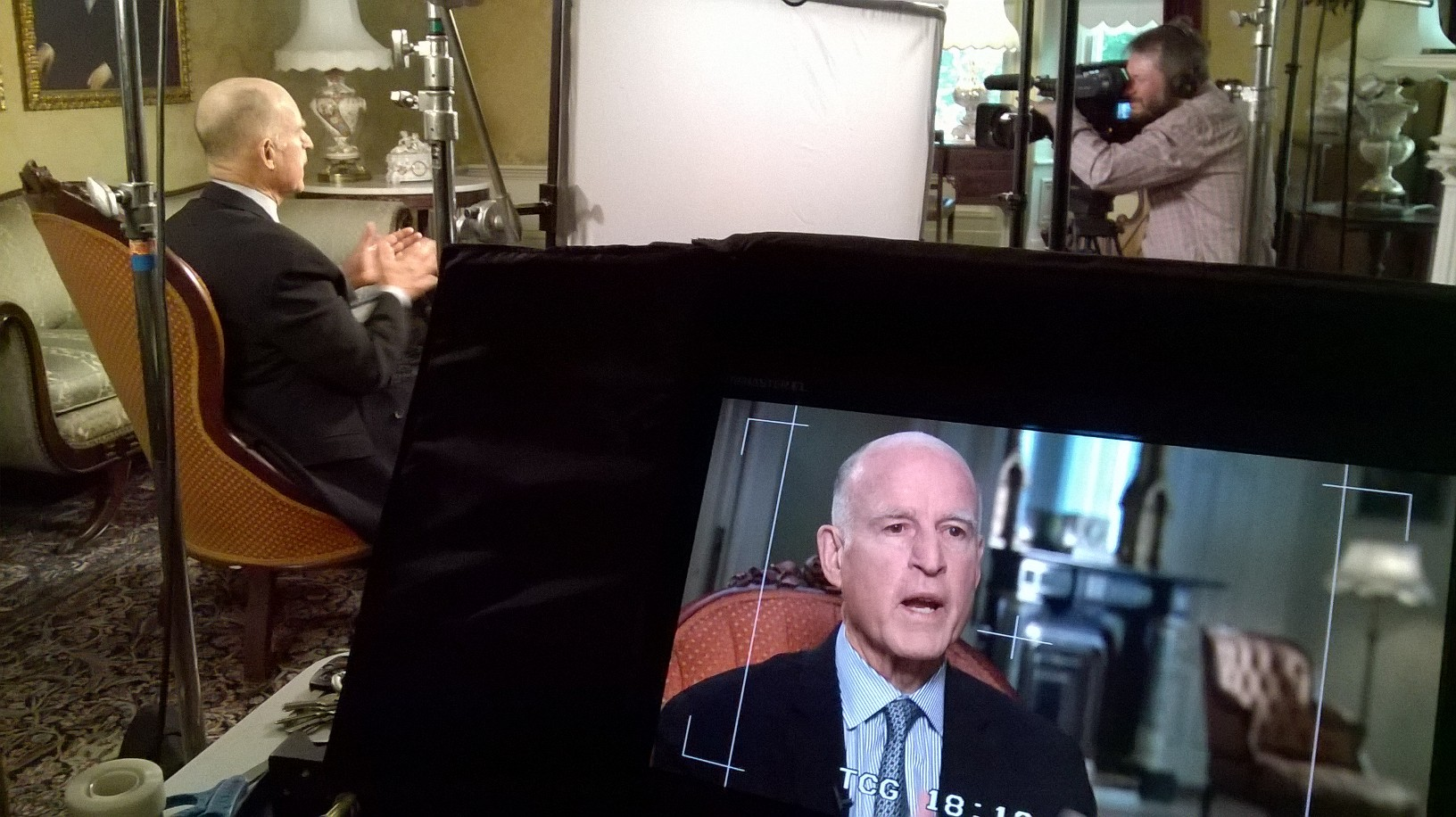 Gov. Jerry Brown interviewed by KQED senior politics editor John Myers