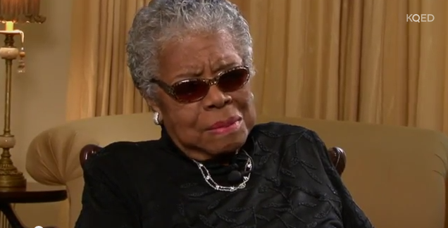 "Maya Angelou in her November 2012 interview with Belva Davis on ""This Week in Northern California."""