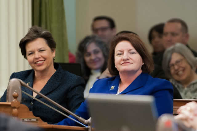 Courtesy of Speaker Toni Atkins (right).